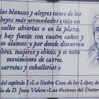 DONA MENCIA 005 Juan Valera auteur et diplomate né à Cabra 15 Km Sud Ouest de DONA MENCIA